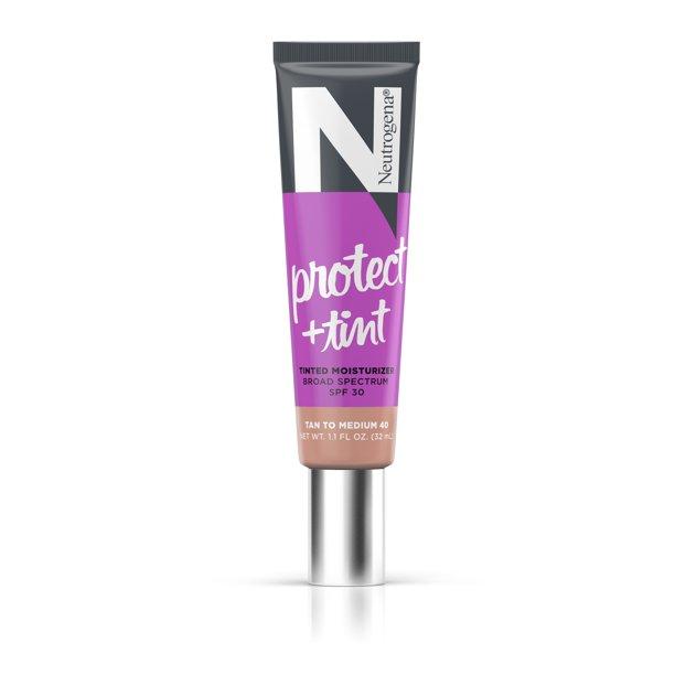 Walmart.com Neutrogena Protect + Tint Tinted Moisturizer, SPF 30, Shade 40, 1.1 fl. oz - Walmart.com