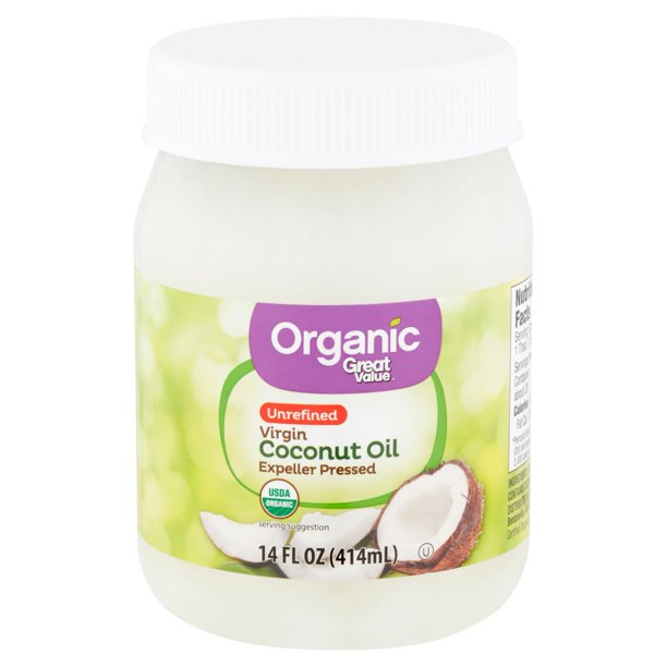 Great Value - Great Value Organic Unrefined Virgin Coconut Oil, 14 fl oz
