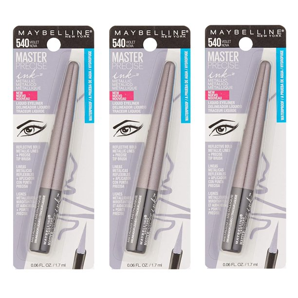 Maybelline - Maybelline Master Precise Ink Metallic Liquid Eyeliner #540 Violet Nova (Pack of 3)