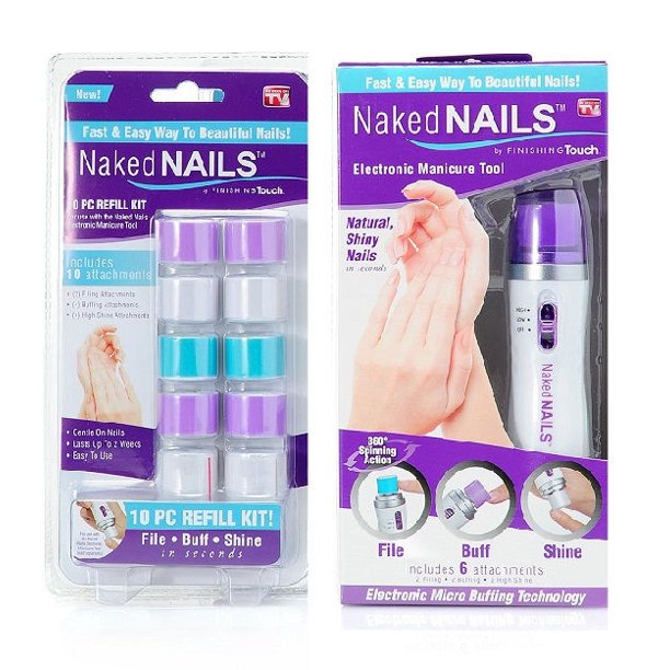 Naked Nails - Naked Nails Manicure Tools w/ 16 File, Buff & Shine Attachments