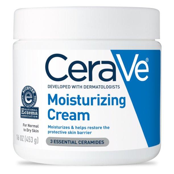 Cerave - CeraVe Moisturizing Cream, Face and Body Moisturizer, 16 oz