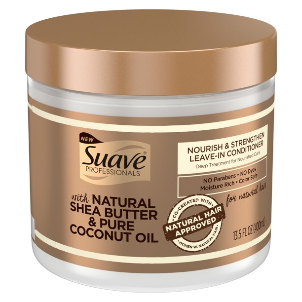 Suave - Suave Professionals for Natural Hair Nourish & Strengthen Leave-In Conditioner 13.5 oz