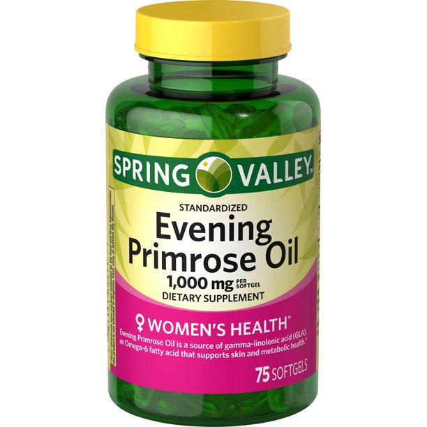 Spring Valley - Spring Valley Women's Health Evening Primrose Oil Softgels, 1000 mg, 75 Ct