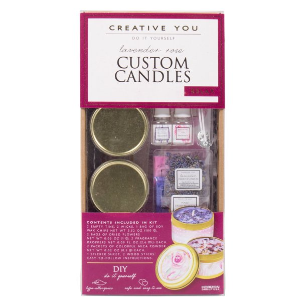 Creative You - D.I.Y. Lavender Rose Custom Candles