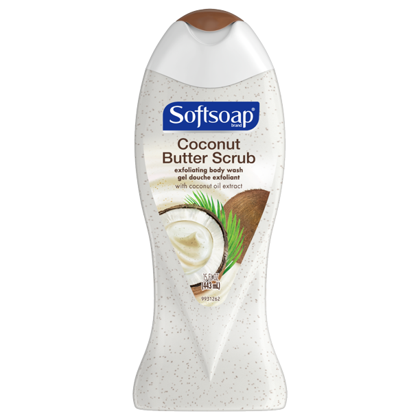 Softsoap - Softsoap, Coconut Butter, Exfoliating Body Wash, 15 Ounce