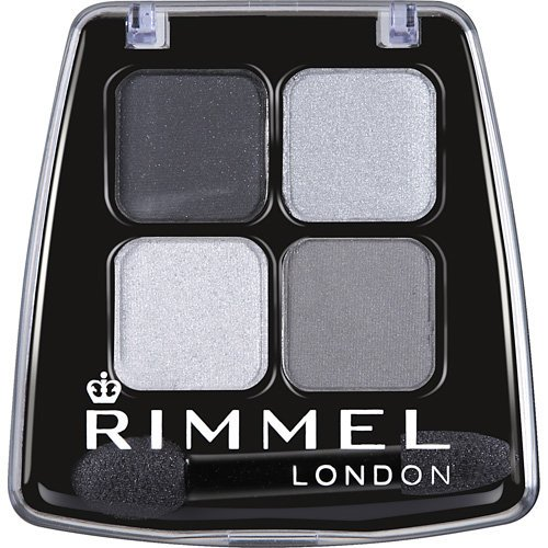 Rimmel - Rimmel London Colour Rush Eye Shadow Quad, 001 Smokey Noir