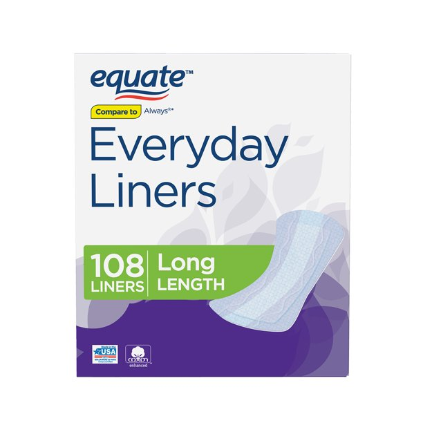 Equate - Equate Everyday Liners, Long, 108 Count