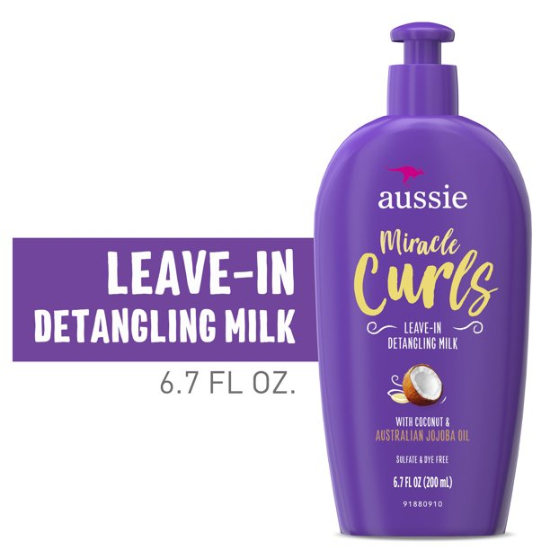 Aussie - Aussie Miracle Curls with Coconut Oil, Paraben Free Detangling Milk Treatment, 6.7 fl oz