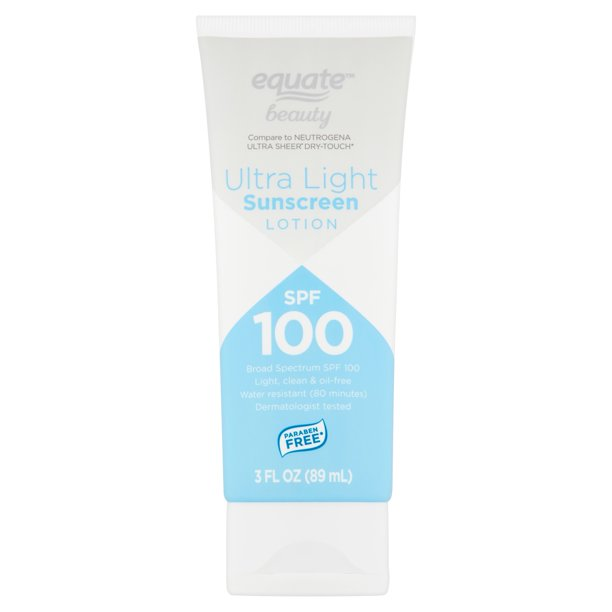 Equate Beauty. - Ultra Light Broad Spectrum Sunscreen Lotion, SPF 100