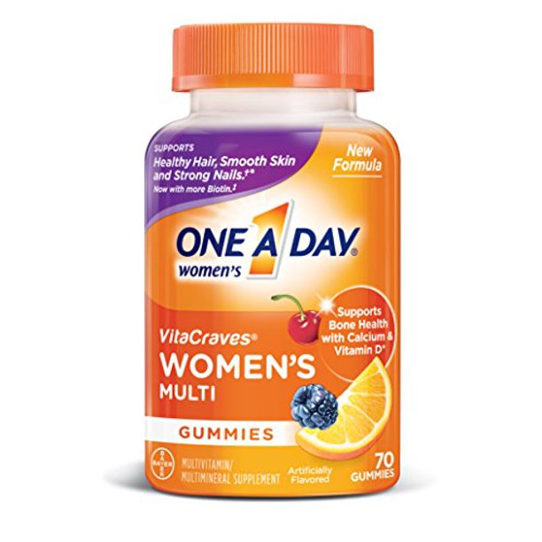 Walmart.com - One A Day Women's VitaCraves Multivitamin Gummies, 70 Count - Walmart.com