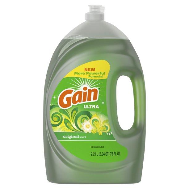 Gain - Gain Ultra Liquid Dish Soap, Original Scent, 75 Fl Oz