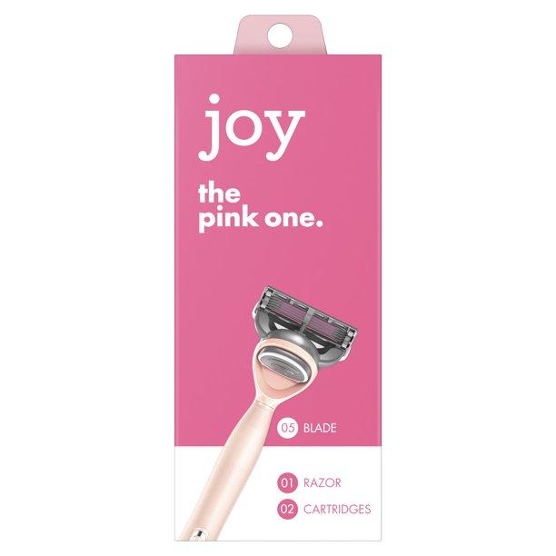 Walmart.com - joy Razor, Handle + 2 razor blade refills (Pink) - Walmart.com