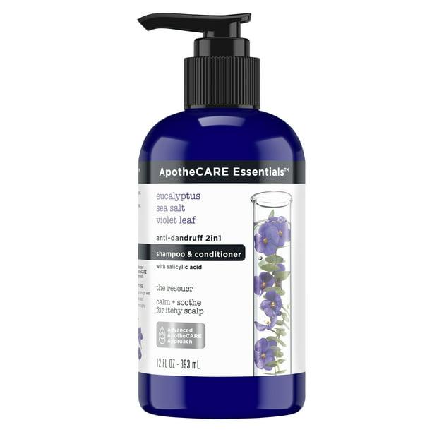 Apothecare Essentials - ApotheCARE Essentials The Rescuer Anti-Dandruff 2 in 1 Shampoo and Conditioner Eucalyptus 12 fl oz
