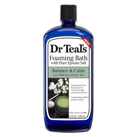 Dr Teal'S - Dr Teal's Foaming Bath with Pure Epsom Salt, Balance & Calm with Matcha Green Tea, 34 fl.oz.