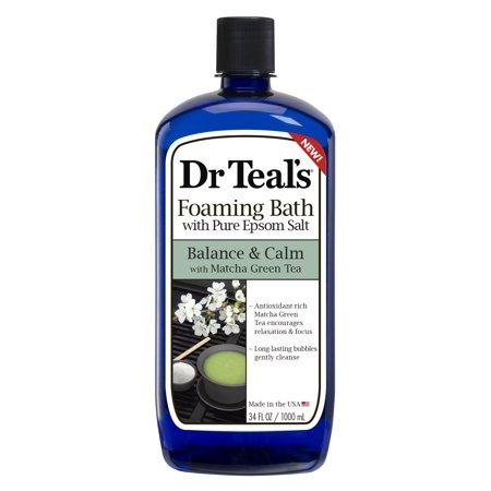 Dr Teal'S - Dr Teal's Foaming Bath with Pure Epsom Salt, Balance & Calm with Matcha Green Tea, 34 fl.oz.
