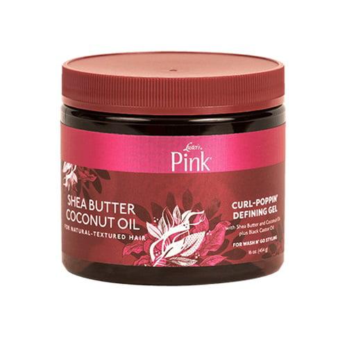 Pink - Shea Butterutter Coconut Oil Curl Poppin Defining Gel