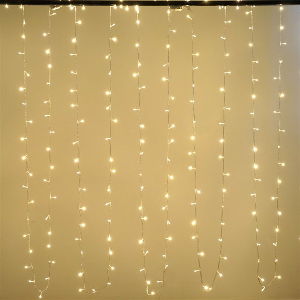 tableclothsfactory - 30FT 100 LED Sequential Warm White String Drape Light For Wedding Party Event