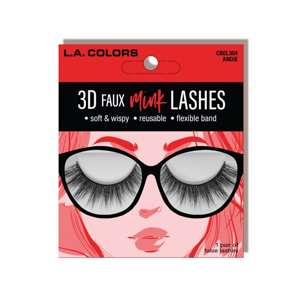 L. A. Colors - Lac Faux Mink Lashes, Andie