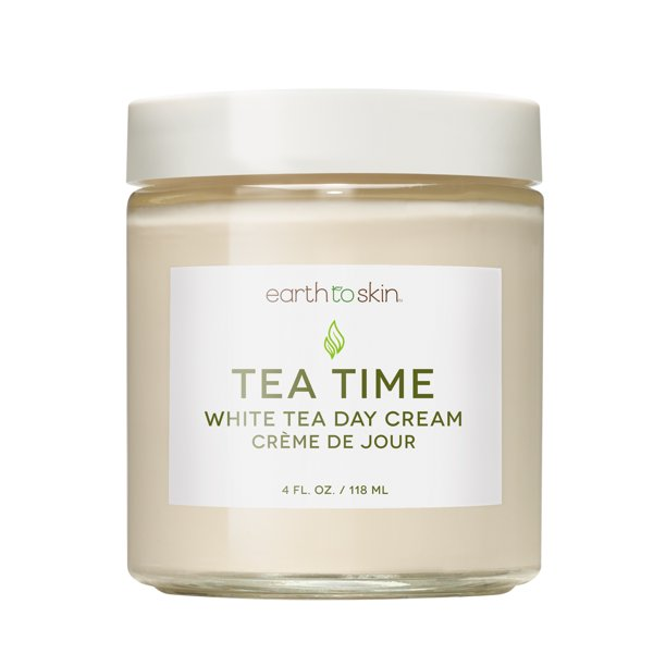 Earth to Skin - Earth to Skin Tea Time Anti Aging White Tea Day Cream, 4 oz