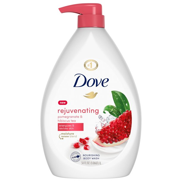 Dove - Dove go fresh Body Wash Pump Pomegranate and Lemon Verbena 34 oz