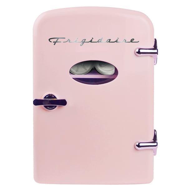 Frigidaire - Frigidaire Portable Retro 6-can Mini Fridge EFMIS129, Pink
