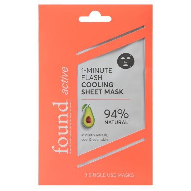 Walmart.com - found Active 1-Minute Flash Cooling Sheet Mask, 3 Pack