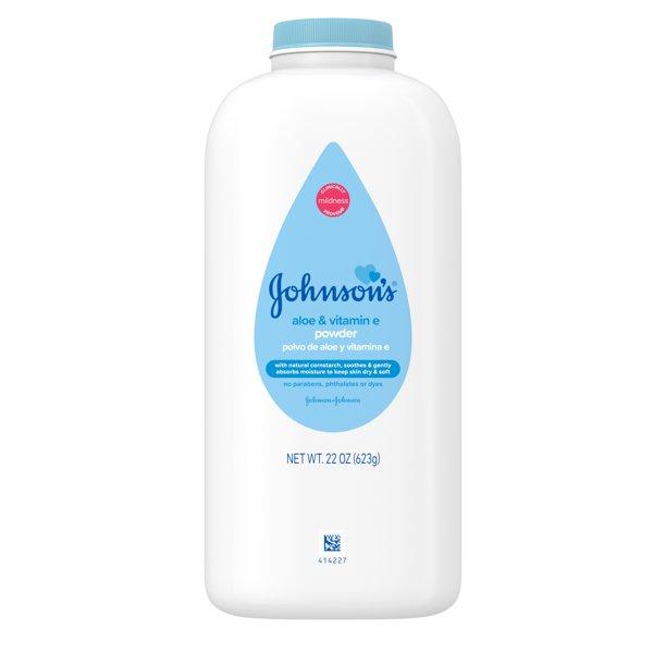 Johnson's - Johnson's Baby Powder with Naturally Derived Cornstarch, Aloe Vera & Vitamin E, 22 oz
