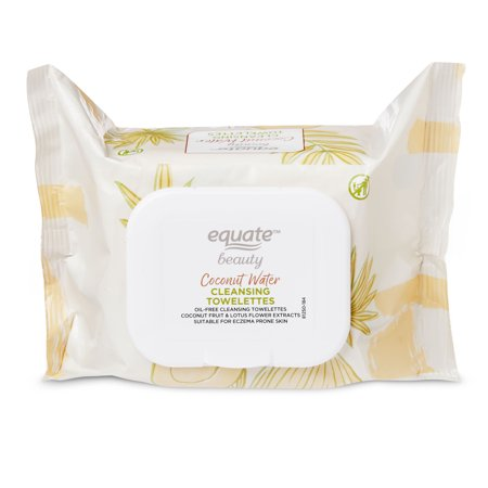 Equate Beauty. - Equate Beauty Coconut Water Cleansing Towelettes, 40 Count