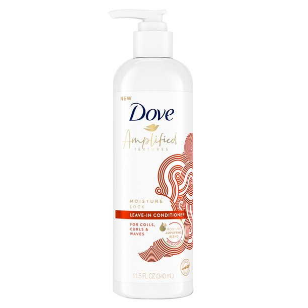 Dove Dove Amplified Textures with Jojoba Leave-in Conditioner Moisture Amplifying Blend for Coils, Curls and Waves 11.5 oz