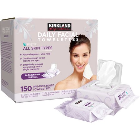 Kirland - Kirkland Signature Daily Makeup Remover Wipes, 180 ct