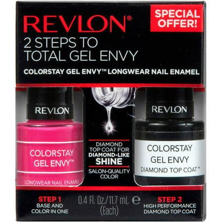 Revlon - ColorStay Gel Envy Longwear Nail Enamel, Royal Flush + Top Coat