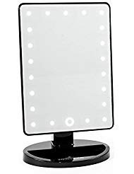 Impressions Vanity® - Impressions Vanity Touch 2.0 Dimmable LED Makeup Mirror in Matte Black - Personal Makeup Mirror - Battery Operated - Travel