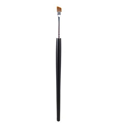 COMFET - Brush Blush - Professional Eyliner Eyebrow Brush Angled+round 2pcs Eyes Makeup Brushes Liner Brow Gel Cream Powder Beauty Applicator