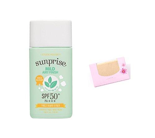 Etude House - Etude House Sunprise Mild Airy Finish Sun Milk SPF50+ / PA+++, SoltreeBundle Natural Hemp Paper 50pcs