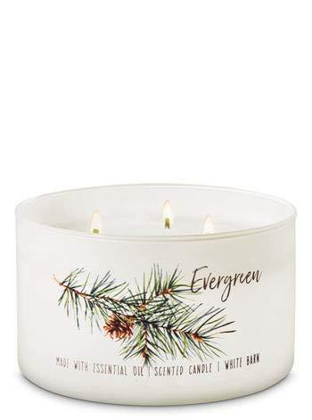 White Barn - White Barn Bath & Body Works 3 Wick Candle Evergreen Low Profile