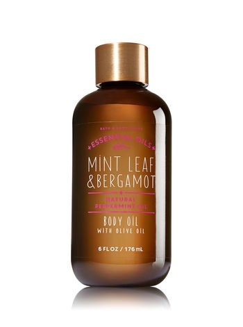 Bath & Body Works - Mint Leaf & Bergamot Body Oil with Olive Oil