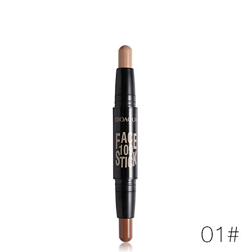 WUDEF - Double Head 3D Bronzer Highlighter Stick Face Makeup Concealer Pen Foundation Stick Cream Texture Contour Pencil