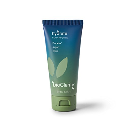 Bioclarity - BioClarity Hydrate Skin Smoothie Moisturizer with proprietary Floralux + Argan & Olive - light, breathable, quick absorbing, and vegan for reducing redness and soothing acne prone sensitive skin