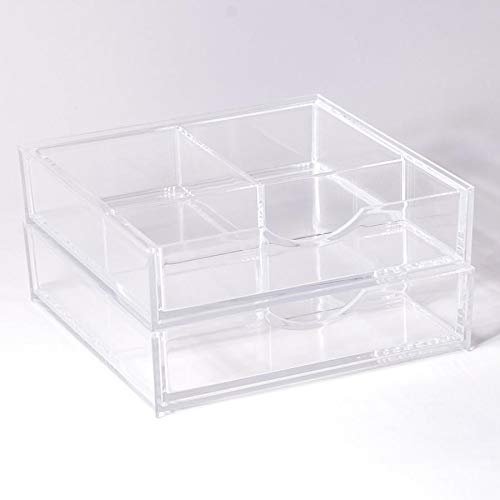 Boxy Girl - Boxy Girl Double Stack Clear Acrylic Makeup Organizer (Without Lid)