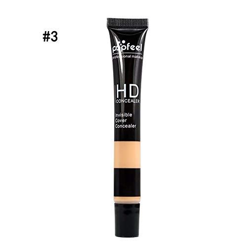 Ouken - 1PC HD Concealer Long Time Wearring Concealer Smoothers Moisturizing Base Makeup Full Coverage Multi-use Concealer(3Beige)