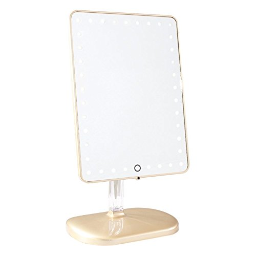 Impressions Vanity Company - Touch Pro LED Makeup Mirror with Wireless Bluetooth Audio + Speakerphone & USB Charger
