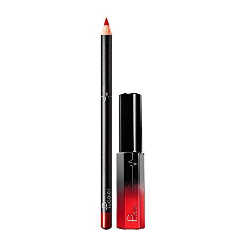 Mlide - Lip Liner and Liquid Gloss Set,Matte Nude Colors Waterproof Long Lasting Makeup Lipstick Lip Liner Pencil for Women,25g(36 colors)(11#)