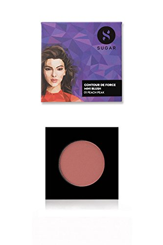 Sugar Cosmetics - SUGAR Cosmetics Contour De Force Mini Blush 01 Peach Peak (Soft Peach Pink), 4g