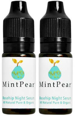 MP Mint Pear - Mint Pear Rosehip Night Serum Travel Size, Set of 2