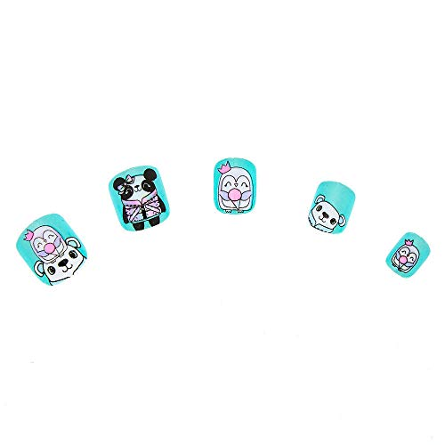 Claire'S Claire's Girl's Winter Cuddle Club Press On Faux Nail Set - Mint, 24 Pack