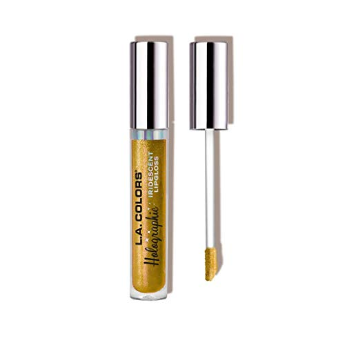 L. A. Colors - L.A. Colors Holographic Iridescent Lipgloss, 0.14 Ounce - Gold Rush