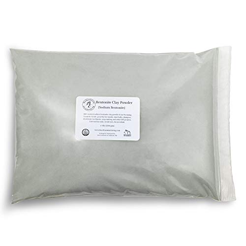 Bare Essentials Living - Bentonite Clay Powder Bulk 5 pounds Cosmetic for face, hair, body, mask, acne, mud bath, DIY soap making, deodorant, etc. by Bare Essentials Living
