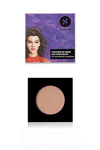 Sugar Cosmetics - SUGAR Cosmetics Contour De Force Mini Highlighter 01 Champagne Champion (Champagne Gold), 4g