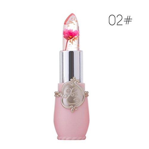 minfei - Sothread Minfei Flowers Crystal Jelly lipstick Magic Change Color Moisturizer Lip Balm (#2)