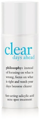 amazon.com - Philosophy Clear Days Ahead Fast-Acting Salicylic Acid Acne Spot Treatment, 0.5 Ounce by Philosophy